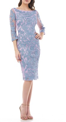 JS Collections Soutache Chiffon Cocktail Dress