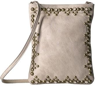 Leather Rock Yvette Cell Pouch (Cream) Cross Body Handbags