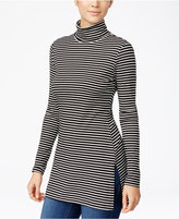 Ultra Flirt Juniors' Rib-Knit Turtleneck Tunic