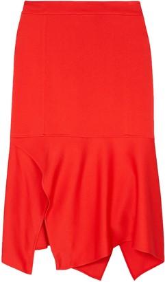 Victoria Beckham Asymmetric Crepe Skirt