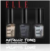 Elle cosmetics metallic tones nail lacquer trio collection