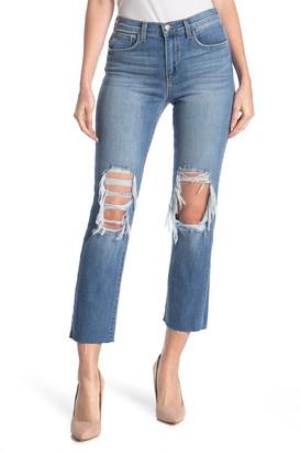 L'Agence Daria Crop Straight Leg Jeans