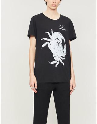 Ann Demeulemeester Graphic-print cotton-jersey T-shirt