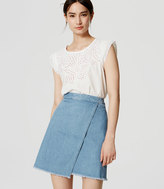 LOFT Denim Wrap Skirt