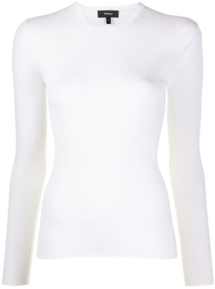 Theory Regal ribbed knit jumper