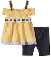 Little Lass Baby Girl Cold-Shoulder Smocked Top & Shorts Set