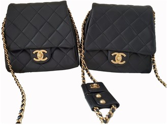 Chanel Side Pack Black Leather Handbags
