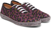 Marc Jacobs - Lenny Leather-trimmed Leopard-print Canvas Sneakers