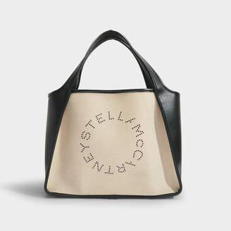 Stella McCartney Stella Logotote In Beige Eco Canvas