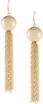 Kenneth Jay Lane Pearly Tassel Chain Drop Earrings