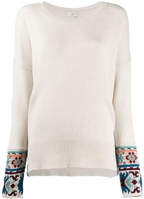 Etro Floral-Cuff Sweater