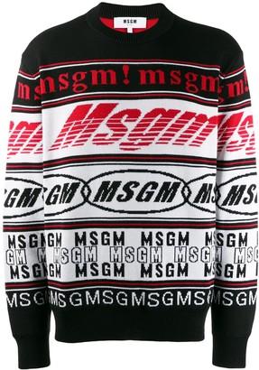 MSGM logo knit jumper