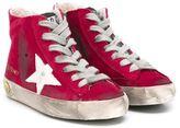 Golden Goose Deluxe Brand Kids - 'Francy' hi-top sneakers - kids - Suede/Leather/Cotton/rubber - 27