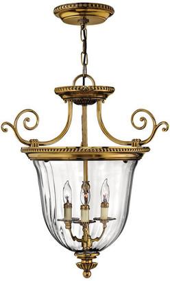 Hinkley Cambridge Foyer Medium Pendant, Burnished Brass