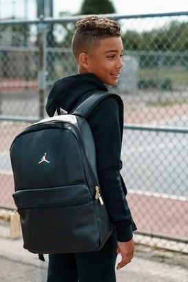 Nike Jordan Faux Leather Backpack