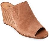 Lucky Brand Sesame Jillah Peep Toe Wedge Mules