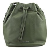 Vince Camuto Gabe Drawstring Bag Women Leather Green Hobo.