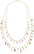 Renee Lewis Antique Diamond and Gemstone Charms Necklace