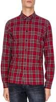 The Kooples Teddy Tartan Slim Fit Button-Down Shirt