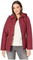 Vince Camuto Houndstooth Quilt V29704 (Biking Red) Women's Coat