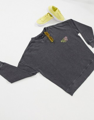 Quiksilver Boxy fleece in washed black