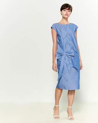 Moschino Stripe Bow Shirt Shift Dress