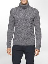 Calvin Klein Mens Cable Knit Turtleneck Sweater
