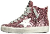 Golden Goose Deluxe Brand Super Star Glitter Leather Sneakers