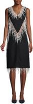 Calvin Klein Fringe Wool Blend Shift Dress
