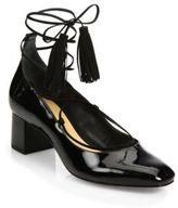 Schutz Ariana Patent Leather Lace-Up Pump