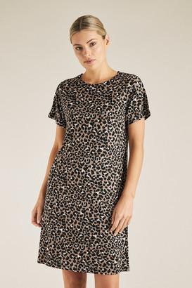 Seed Heritage Animal Print Tee Dress