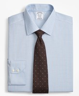 Brooks Brothers Regent Fitted Dress Shirt, Non-Iron Two-Tone Framed Windowpane