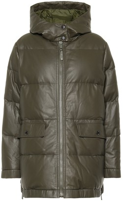 Yves Salomon Army leather down coat