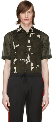 Dries Van Noten Khaki Leopard and Floral Shirt