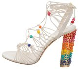 Salvatore Ferragamo Rainbow Beaded Sandals w/ Tags