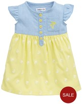 Ladybird Baby Girls Chambray And Jersey Dress