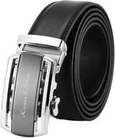 K&S KS Men's Casual Ratchet Leather Belt Slide Automatic Buckle KB110