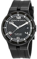 Porsche Design 6351-43-04-1254 Men's Flat 6 Auto Black Rubber Carbon Fiber