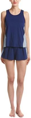 Jane & Bleecker Women's Mixed Media Pajama Short Set