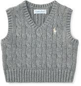 Ralph Lauren Boy Cable-Knit Cotton Vest