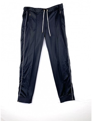 Moncler Black Synthetic Trousers