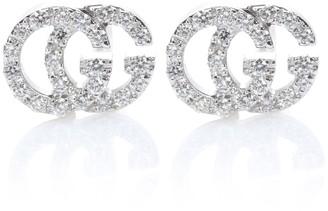 Gucci Running G 18kt white gold diamond earrings