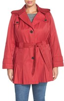 Via Spiga Plus Size Women's 'scarpa' Single Breasted Hooded Trench Coat