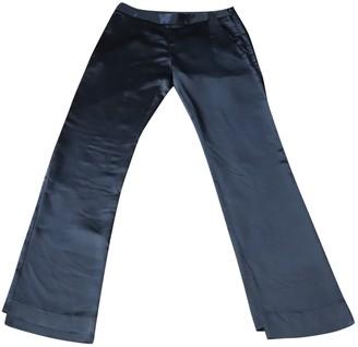 Theory Black Viscose Trousers