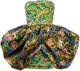 Versace baroque-print puffball-hem dress