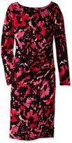 Tracy Reese Women's Long Sleeve Printed Side-Zip T Dress