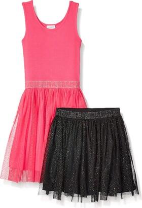 Spotted Zebra Tutu Tank Dress and Skirt Set Casual