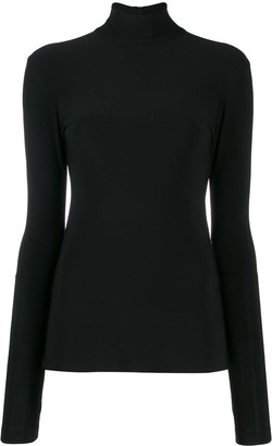 Norma Kamali Slim-Fit Turtleneck Top