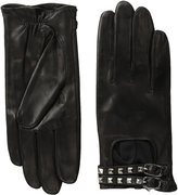 Badgley Mischka Womens Leather Driver with Studs