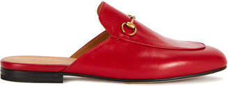 Gucci Princetown Red Leather Loafers
